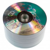 Диск CD-R 50 Videx X-Green, 700Mb, 52x, Bulk Box