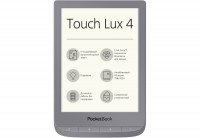 Электронная книга 6' PocketBook 627 Touch Lux 4 Matte Silver (PB627-S-CIS) E-Ink