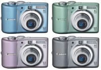 Фотоаппарат Canon PowerShot A1100 IS Pink, 12,1 Mp, LCD 2,5', Zoom 4x, оптически