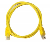 Патч-корд 1 м, UTP, Yellow, Cablexpert, литой, RJ45, кат.5е (PP12-1M Y)