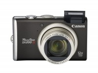Фотоаппарат Canon PowerShot SX200 IS Black, 1 2.3', 12.1Mpx, LCD 3', зум оптичес
