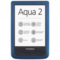 Электронная книга 6' PocketBOOK 641 Aqua Dark Blue (PB641-A-CIS) E-Ink Pear 800х