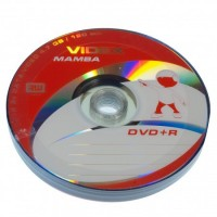 Диск DVD+R 10 Videx Mamba, 4.7Gb, 16x, Bulk Box