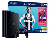 Игровая приставка Sony PlayStation 4 Pro, 1000 Gb, Black + FIFA 19