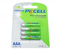 Аккумулятор AAA, 1000 mAh, PKCELL, 4 шт, 1.2V, Pre- Charged , Blister