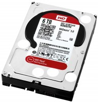 Жесткий диск 3.5' 6Tb Western Digital Red, SATA3, 64Mb, 5400 rpm (WD60EFRX)