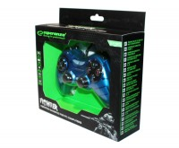 Геймпад Esperanza Fighter GX400, Dark Blue, USB, вибрация, для PC, 2 аналоговых