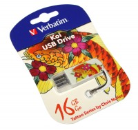 USB Флеш накопитель 16Gb Verbatim Store'N'Go Mini Tattoo Koi 49886