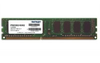 Модуль памяти 8Gb DDR3, 1600 MHz, Patriot, 11-11-11-28, 1.5V (PSD38G16002)