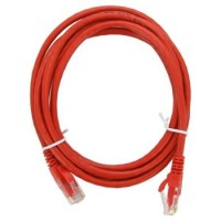 Патч-корд 1 м, UTP, Red, Cablexpert, литой, RJ45, кат.5е (PP12-1M R)