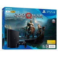 Игровая приставка Sony PlayStation 4, 1000 Gb, Black + God of War 2018