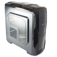 Корпус GTL Gaming K1 Black, без БП, ATX Micro ATX Mini ITX, 2 x 3.5mm, USB2.