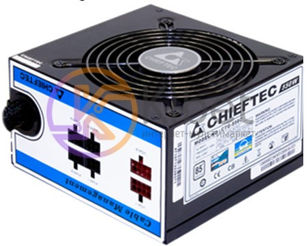 Блок питания Chieftec 550W CTG-550C, 120 mm, 24+4pin, 1x4+4pin, SATA х 6, Molex