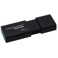 USB 3.0 Флеш накопитель 16Gb Kingston 100 G3 Black 32 6Mbps DT100G3 16GB