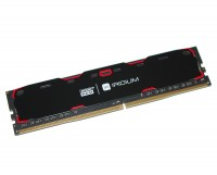 Модуль памяти 4Gb DDR4, 2400 MHz, Goodram Iridium, Black, 15-15-15, 1.2V, с ради