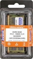Модуль памяти SO-DIMM, DDR3, 8Gb, 1333 MHz, Goodram, 1.5V (GR1333S364L9 8G)