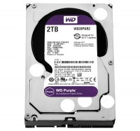 Жесткий диск 3.5' 2Tb Western Digital Purple, SATA3, 64Mb, 5400 rpm (WD20PURZ)