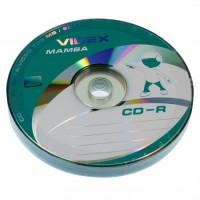 Диск CD-R 10 Videx Mamba, 700Mb, 52x, Bulk Box