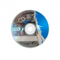 Диск CD-R 10 Videx X-Blue, 700Mb, 52x, Bulk Box