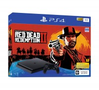Игровая приставка Sony PlayStation 4, 1000 Gb, Black (CUH-2208B) + Red Dead Rede