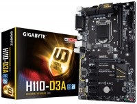 Материнская плата 1151 (H110) Gigabyte GA-H110-D3A, H110, 2xDDR4, Int.Video(CPU)