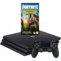 Игровая приставка Sony PlayStation 4 Pro, 1000 Gb, Black + Fortnite