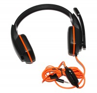 Наушники Gemix W-330 Gaming Black Orange, 2 x Mini jack (3.5 мм), накладные, каб