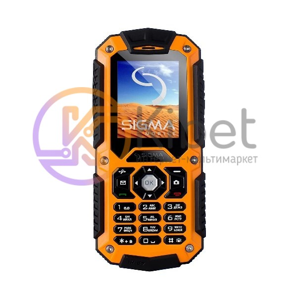 Мобильный телефон Sigma mobile X-treme IT67 Black Orange, 2 Sim, 2' (176x220) TF