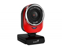 Web камера Genius QCam 6000 Full HD Red, 2.0 Mpx, 1920x1080, USB 2.0, встроенный
