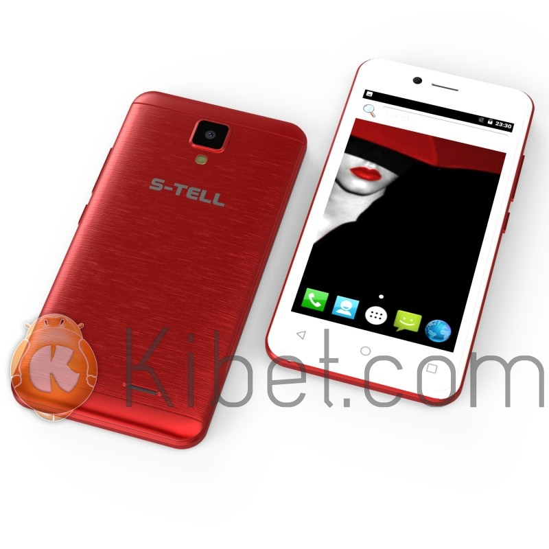 Смартфон S-Tell M458 Red, 2 Sim, 4 5' (960x540) IPS, MTK 6580 1 3