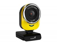 Web камера Genius QCam 6000 Full HD Yellow, 2.0 Mpx, 1920x1080, USB 2.0, встроен