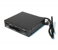 Card Reader 3.5' внутренний All in 1 + USB 2.0 port, LogicFox LF-X06D-B черный п