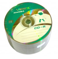 Диск CD-R 50 Videx Mamba, 700Mb, 52x, Bulk Box